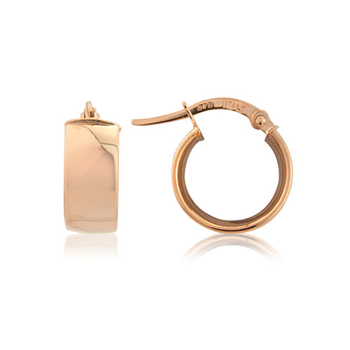 Mark Milton 9ct Rose Gold Flat Hoop Earrings