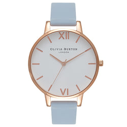 Olivia Burton White Dial Chalk Blue   Rose Gold Watch 8a4779f2d1