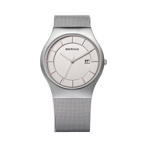 Bering Classic Date Stainless Steel 38mm Men's Watch