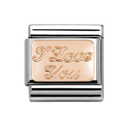 Nomination I Love You Rose-Gold Plated Composable Classic Charm