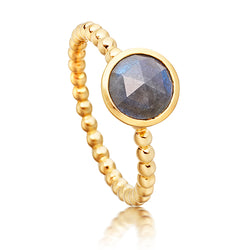 Astley Clarke Stilla Mini Labradorite Beaded 18ct Gold Plate Ring