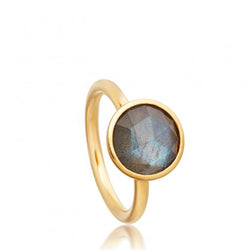 Astley Clarke Stilla Round Labradorite 18ct Gold Plated Ring