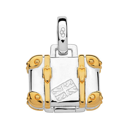 Links of London Yellow Gold & Silver Suitcase Charm