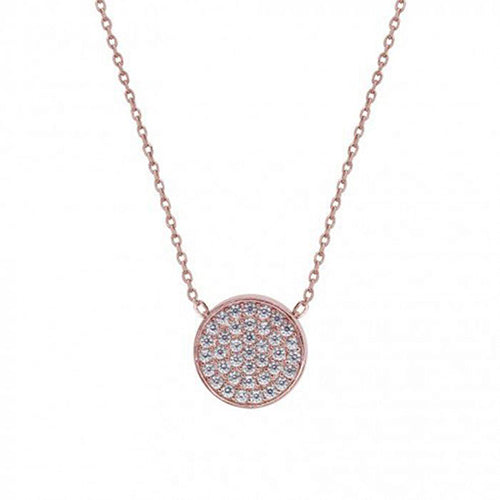 Carat Rose-Gold Gala Round Pendent Necklace
