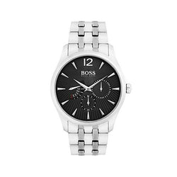 Hugo Boss Gents Stainless Steel Black Dial 40mm Chronograph Watch
