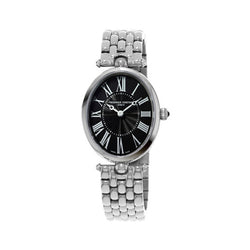 Frédérique Constant Art Deco Steel Black Oval 25mm Ladies Watch