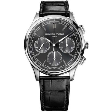 Frederique Constant Flyback Black Chronograph 42mm Automatic Gents Watch