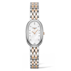 Longines Symphonette Oval 18.90 x 29.40 mm Two-Tone and Diamond Ladies Watch
