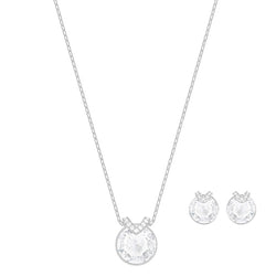 Swarovski Bella V White Rhodium Plated Set