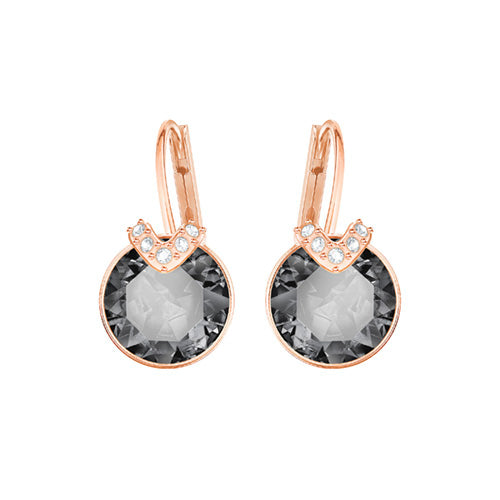 Swarovski Bella V Grey Rose Gold Plated Earrings