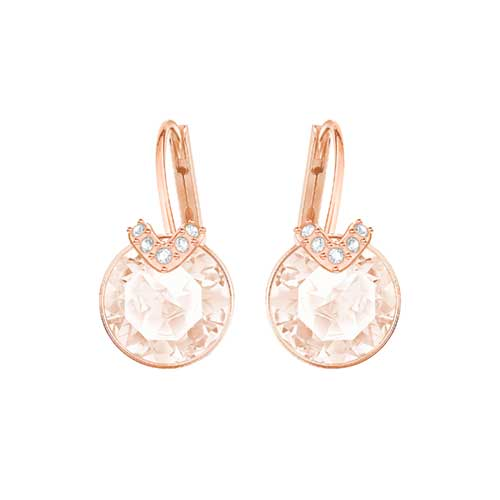 Swarovski Bella V Pink Rose Gold Plated Earrings
