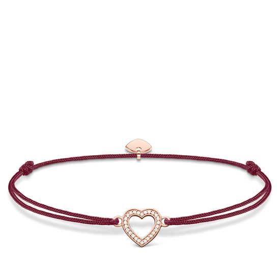 Thomas Sabo Little Secrets Rose-Gold Plated Open Heart Nylon Bracelet