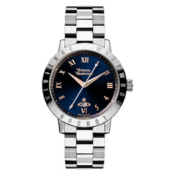 Vivienne Westwood Ladies Bloomsbury Steel And Blue Watch