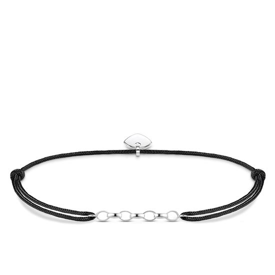 Thomas Sabo Little Secrets Silver & Black Nylon Charm Bracelet