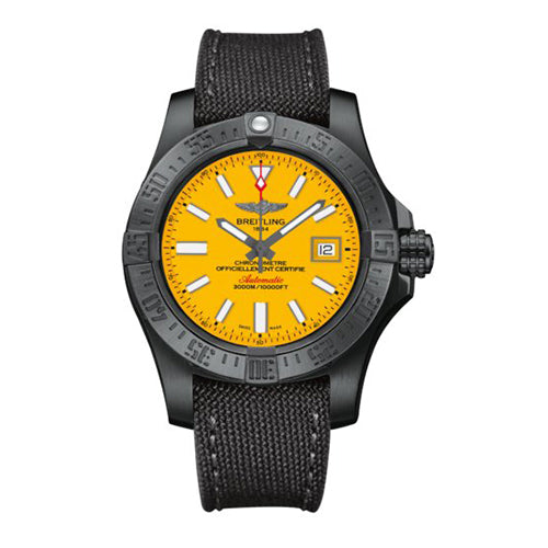 Breitling Avenger II Seawolf Steel Yellow 43 mm Automatic Mens Watch