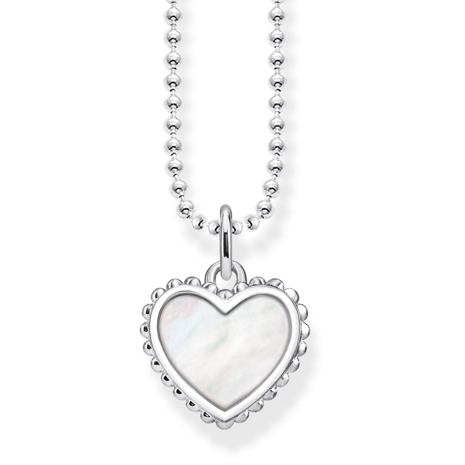 Thomas Sabo Silver & Mother of Pearl Heart Necklace