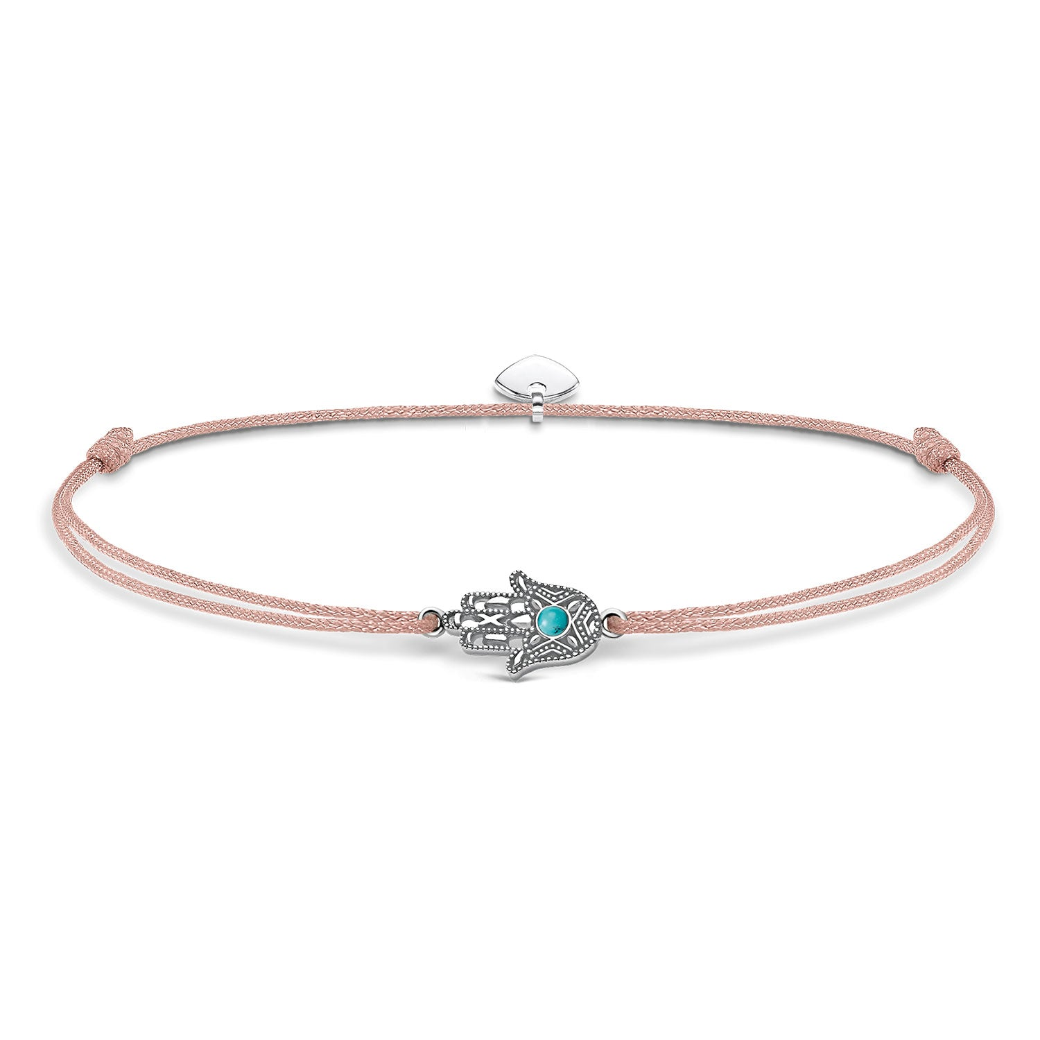 Thomas Sabo Silver & Turquoise Hand of Fatima Ankle Bracelet