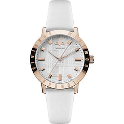 Vivienne Westwood Bloomsbury II Rose-Gold Plated White 34 mm Women's Watch
