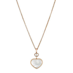 Chopard Happy Hearts Happy Diamonds Rose-Gold Pendant Necklace