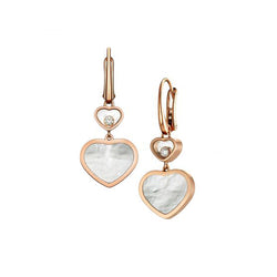 Chopard Happy Hearts Happy Diamonds Rose-Gold Drop Earrings