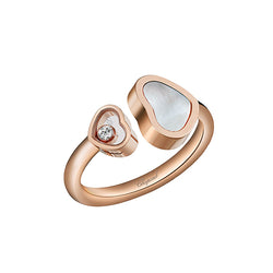 Chopard Happy Hearts Happy Diamonds Rose-Gold Open Ring