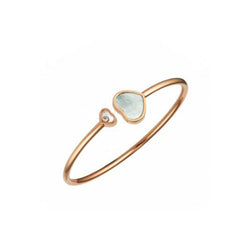 Chopard Happy Diamonds Rose-Gold, Diamond & Mother of Pearl Heart Bangle