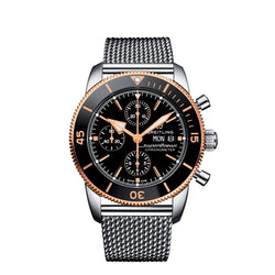 Breitling Superocean Heritage II Chronograph Steel Black & Rose 44 mm Automatic Men's Watch