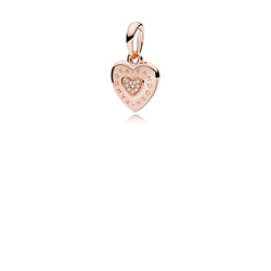 PANDORA Rose Logo Heart Necklace Pendant