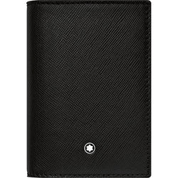 Montblanc Sartorial Black Full-Grain Leather Business Card Holder