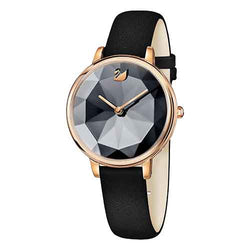 Swarovski Crystal Lake Black & Rose 35 mm Ladies Watch