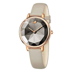 Swarovski Crystal Lake Grey & Rose 35 mm Ladies Watch