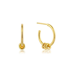 Ania Haie Modern Gold-Toned Triple Hoop Earrings