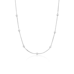 Ania Haie Modern Silver-Toned Beaded Necklace