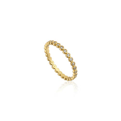 Ania Haie Touch of Sparkle Gold-Toned Shimmer Half Eternity Ring