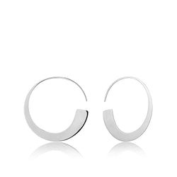 Ania Haie Geometry Silver-Toned Slim Hoop Earrings