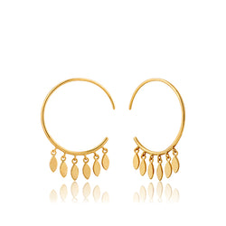 Ania Haie All Ears Gold-Toned Multi-Drop Hoop Earrings