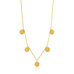 Ania Haie Coins Gold-Toned Deus Necklace