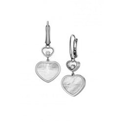 Chopard Happy Hearts Happy Diamonds White-Gold Drop Earrings