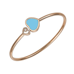 Chopard Happy Hearts Happy Diamonds Rose-Gold Turquoise Open Bangle