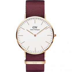 Daniel Wellington Classic Roselyn Rose & Ruby Red 40 mm Watch