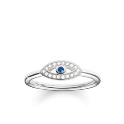 Thomas Sabo Silver & Blue Nazar Evil Eye Ring