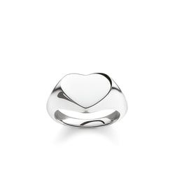 Thomas Sabo Solid Silver Heart Signet Ring