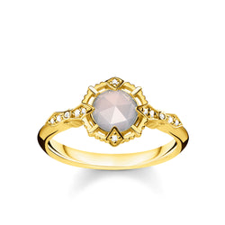 Thomas Sabo Vintage White Diamond & Agate Ring