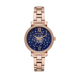 Michael Kors Sofie Pave Rose-Gold Plated 36 mm Women's Watch