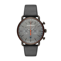 Emporio Armani Aviator Gunmetal Grey 43 mm Chronograph Men's Watch