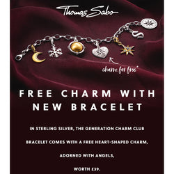 Thomas Sabo Charm Club Silver Bracelet with Angel Heart Charm