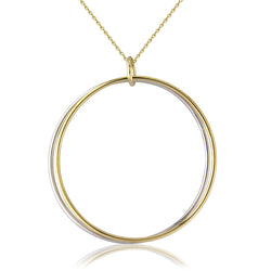 Mark Milton 9ct Yellow & White Gold Double Hoop Pendant