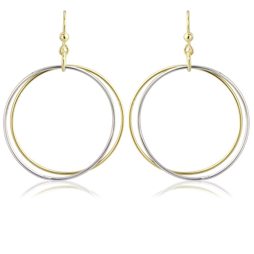 Mark Milton Souble Circle Hook Earrings