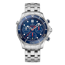 Omega Seamaster Diver Chronograph Blue & Steel 44 mm Men's Watch