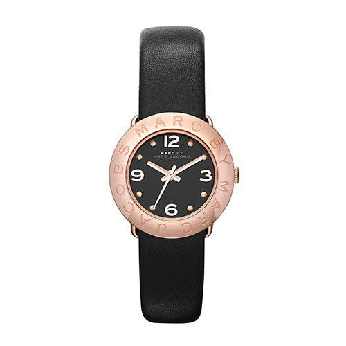 Marc By Marc Jacobs Rose Gold Toned Leather Watch